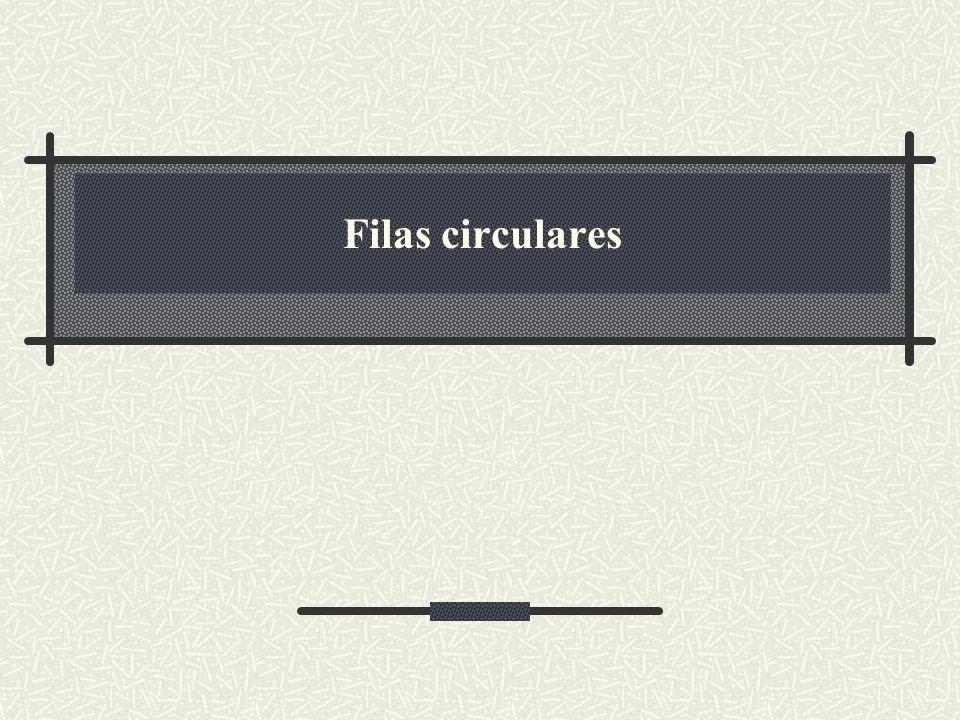 12 Método dequeue em filas circulares public Object dequeue () { if(head == tail) throw new ContainerEmptyException (); if(++head == array.length) head = 0; --count; Object result = array [head]; array [head] = null; return result; } 12