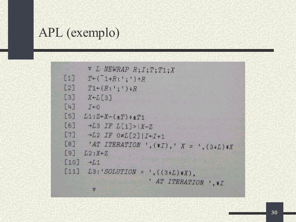 30 APL (exemplo)