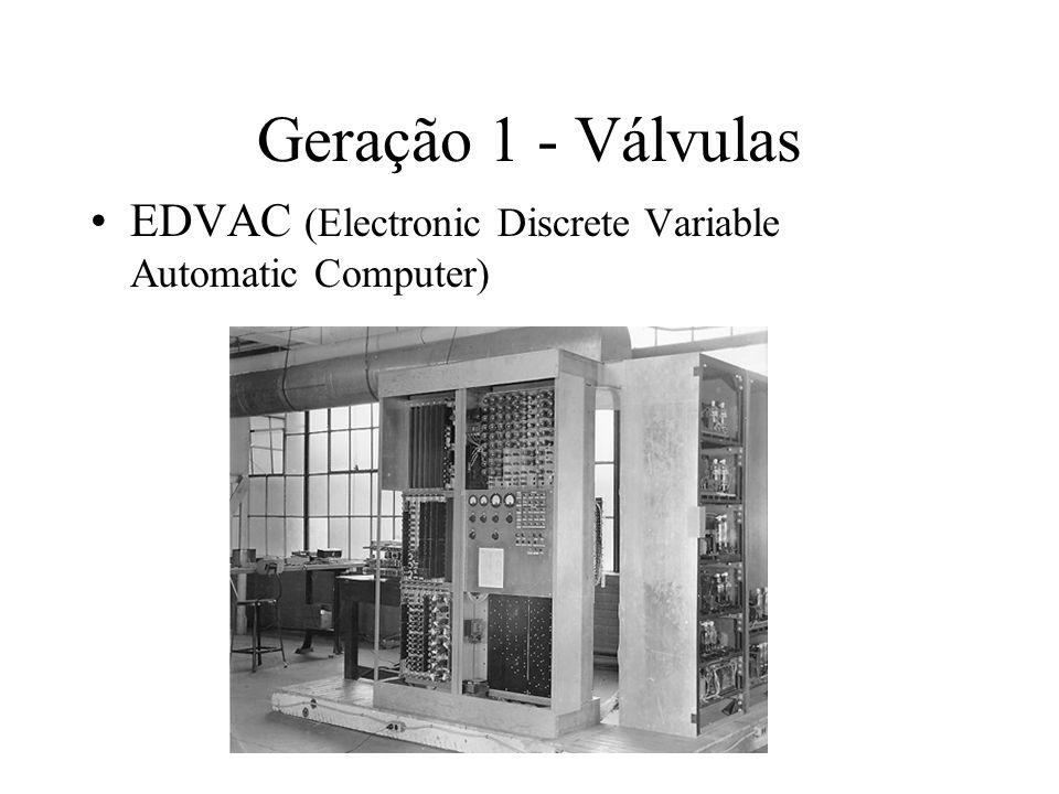 Geração 1 - Válvulas EDVAC (Electronic Discrete Variable Automatic Computer)