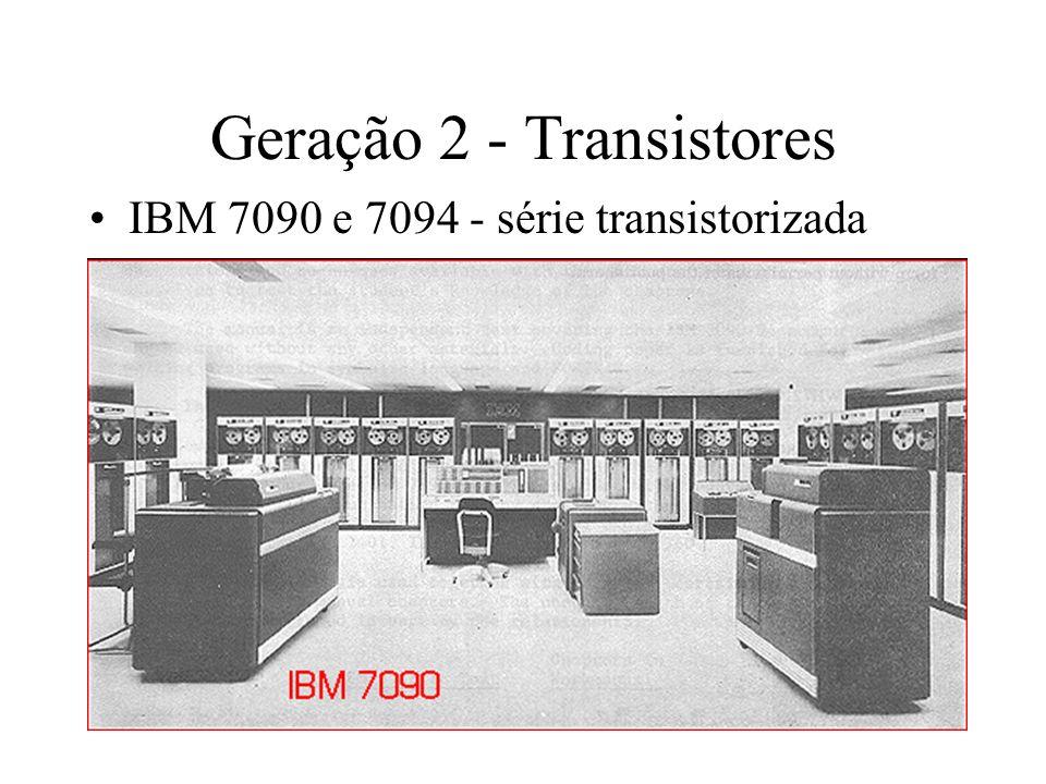 Geração 2 - Transistores IBM 7090 e 7094 - série transistorizada