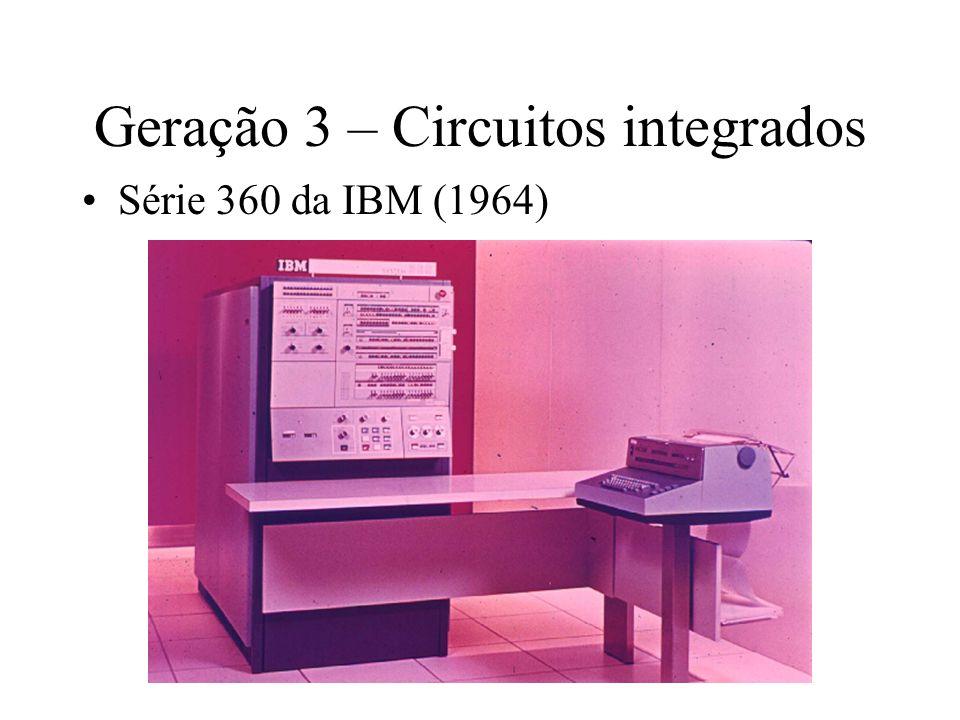 Geração 3 – Circuitos integrados Série 360 da IBM (1964)