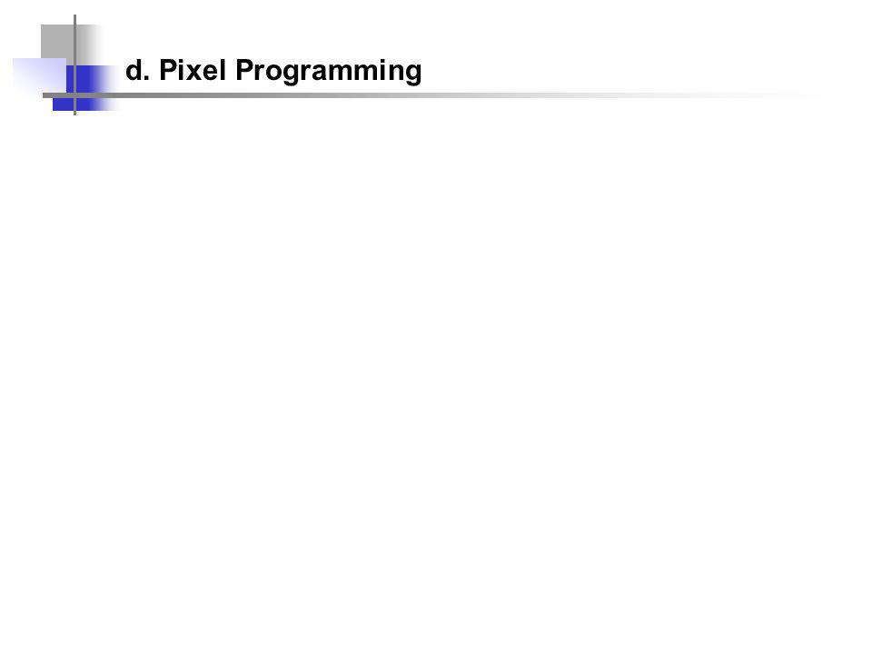 d. Pixel Programming
