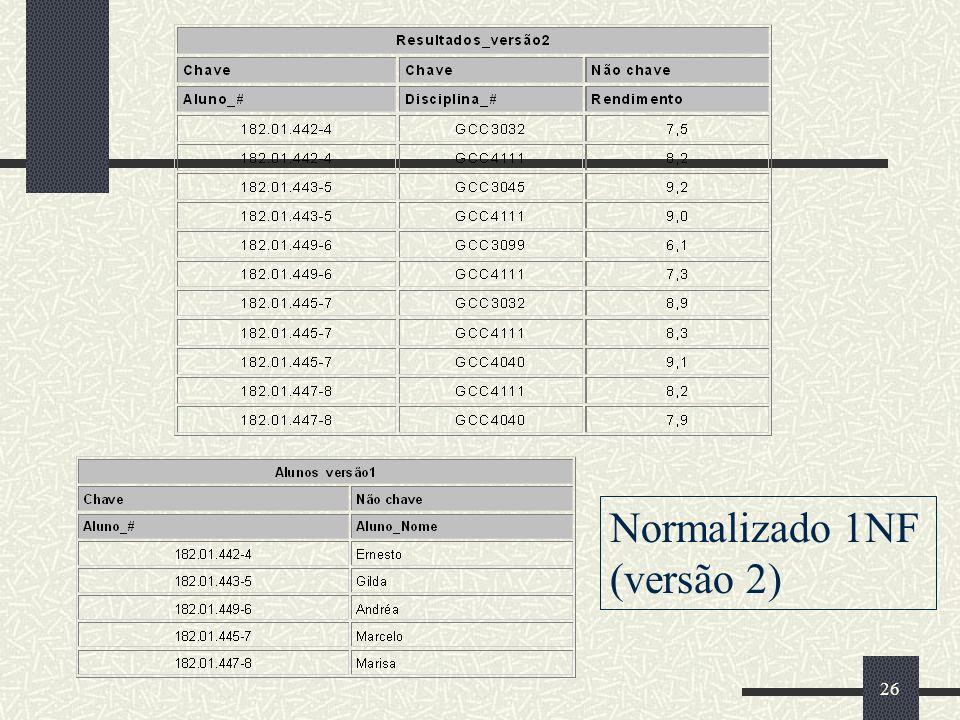 26 Normalizado 1NF (versão 2)