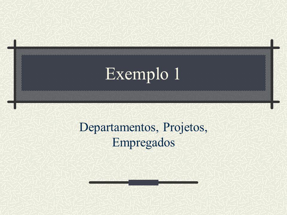 Exemplo 1 Departamentos, Projetos, Empregados