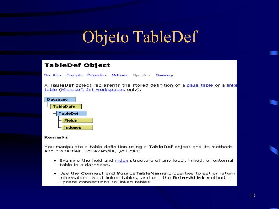 10 Objeto TableDef