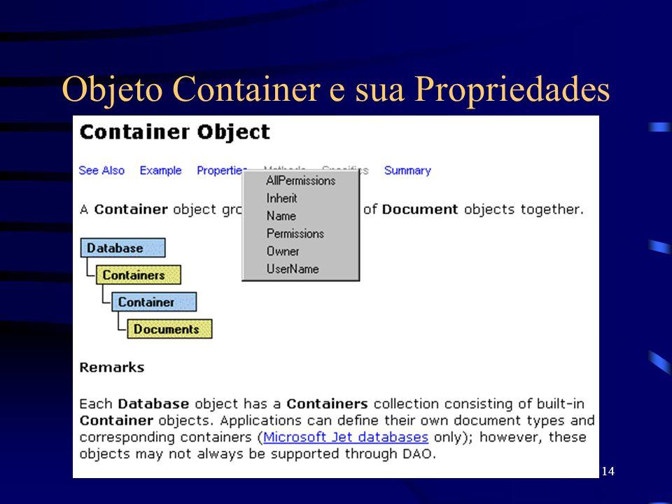 14 Objeto Container e sua Propriedades