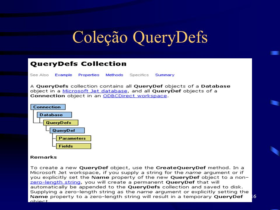 16 Coleção QueryDefs