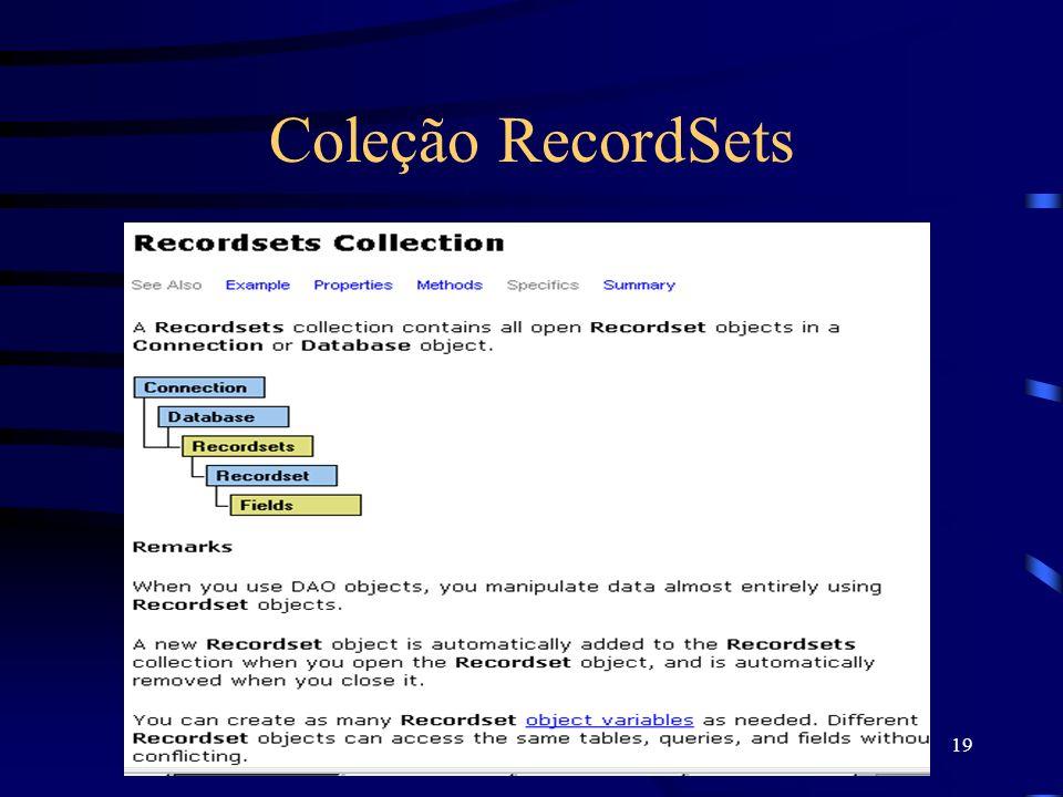 19 Coleção RecordSets