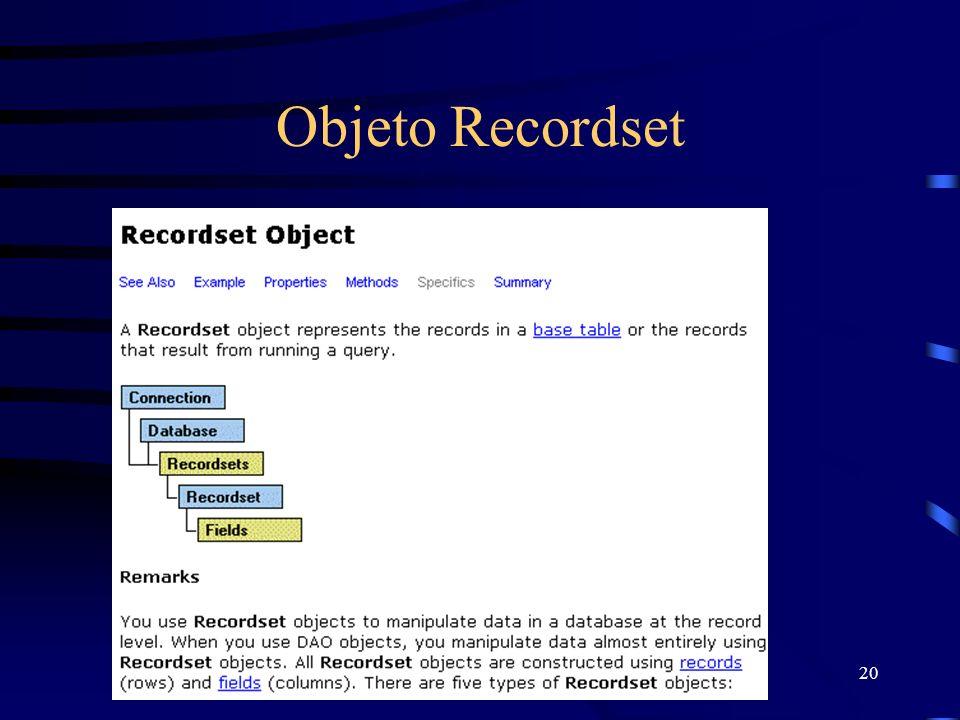 20 Objeto Recordset