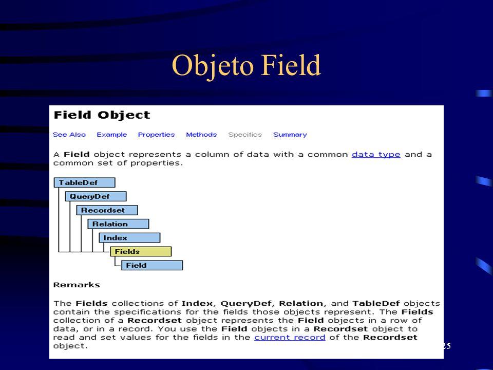 25 Objeto Field