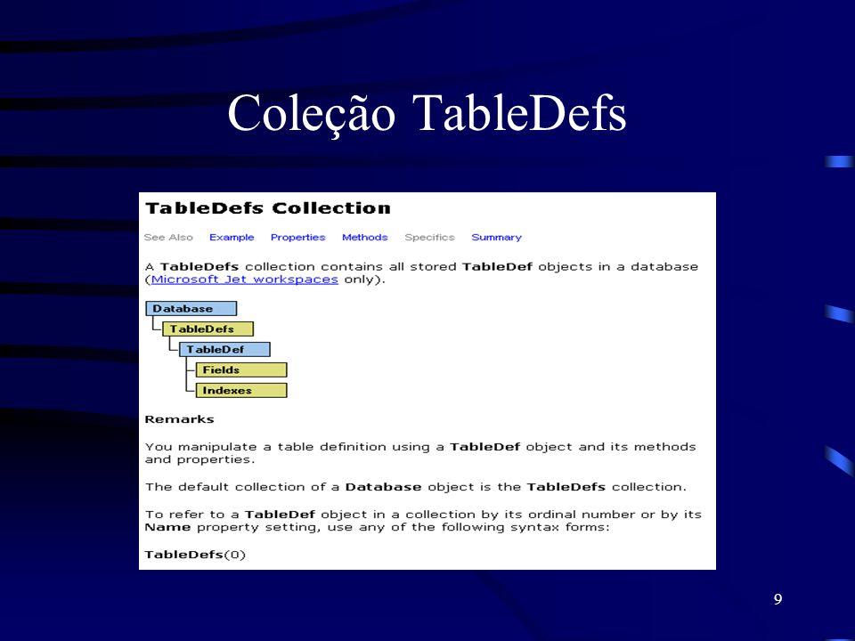 9 Coleção TableDefs