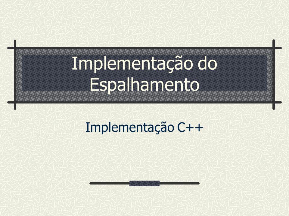 Implementação do Espalhamento Implementação C++