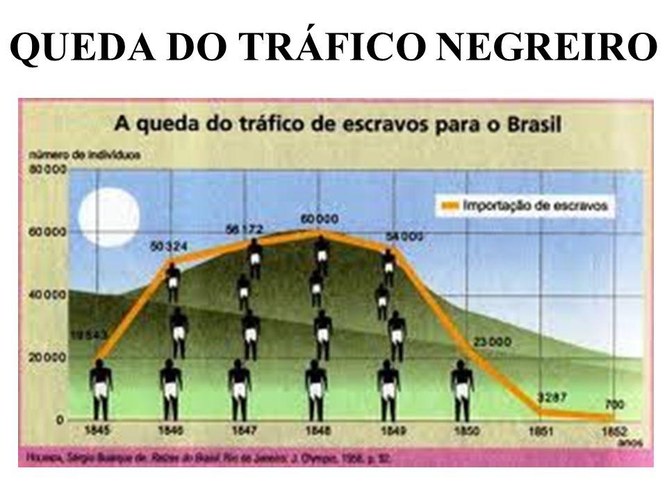 QUEDA DO TRÁFICO NEGREIRO