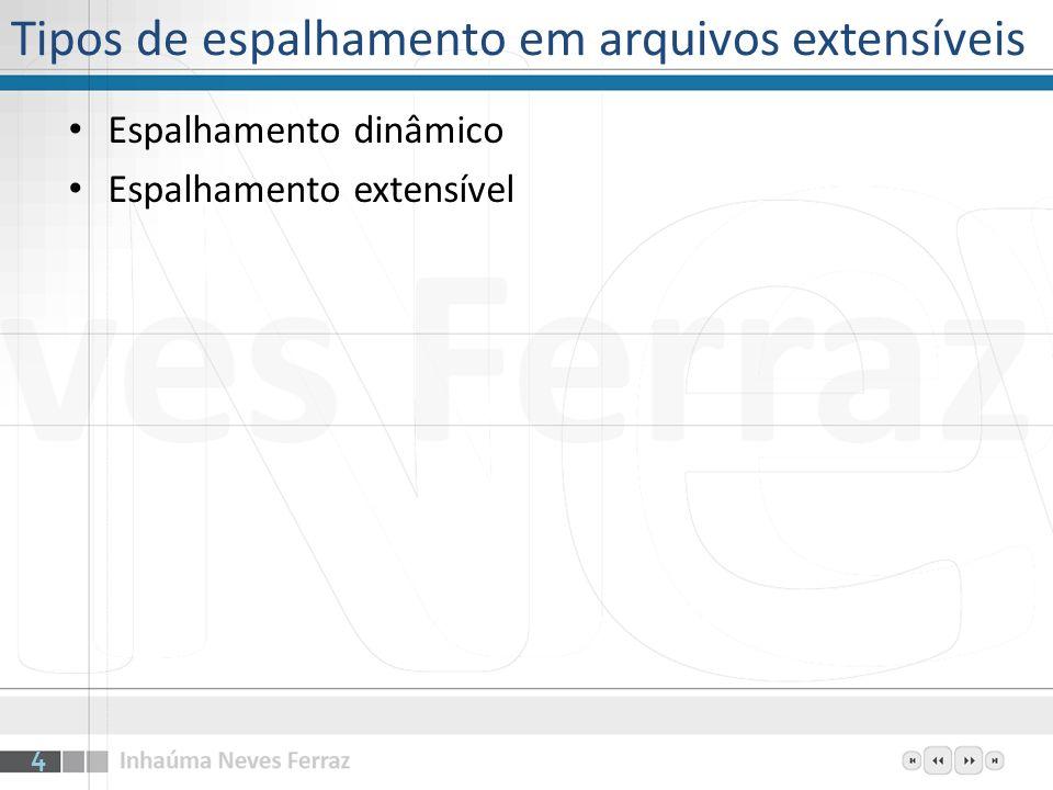 Tipos de espalhamento em arquivos extensíveis Espalhamento dinâmico Espalhamento extensível 4