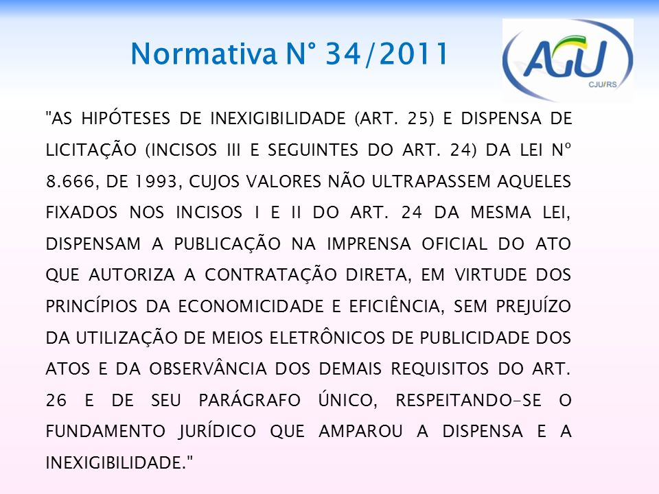 Normativa N° 34/2011