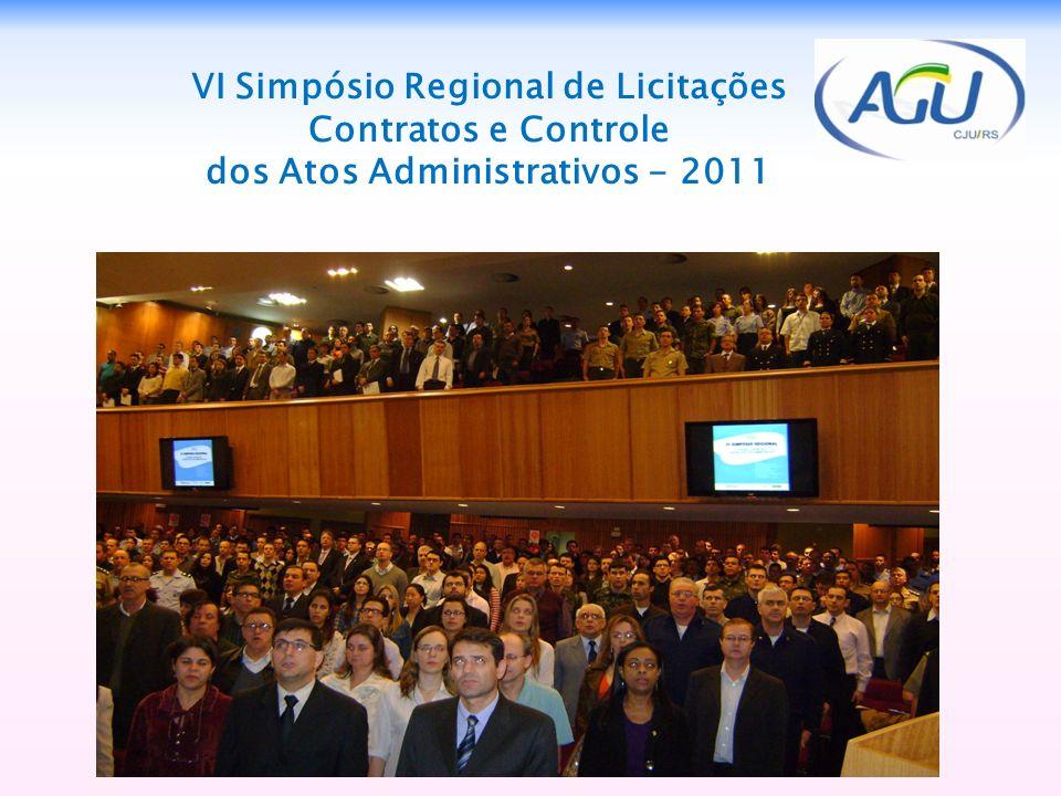 VI Simpósio Regional de Licitações Contratos e Controle dos Atos Administrativos - 2011