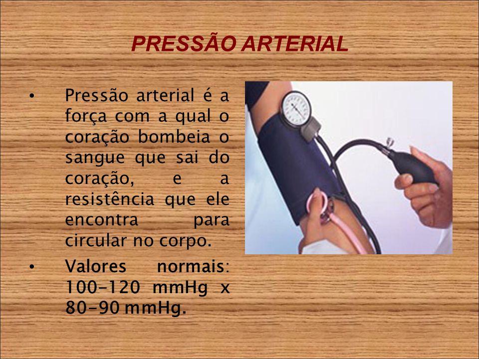 PRESSÃO ARTERIAL Pressão arterial é a força com a qual o coração bombeia o sangue que sai do coração, e a resistência que ele encontra para circular no corpo.