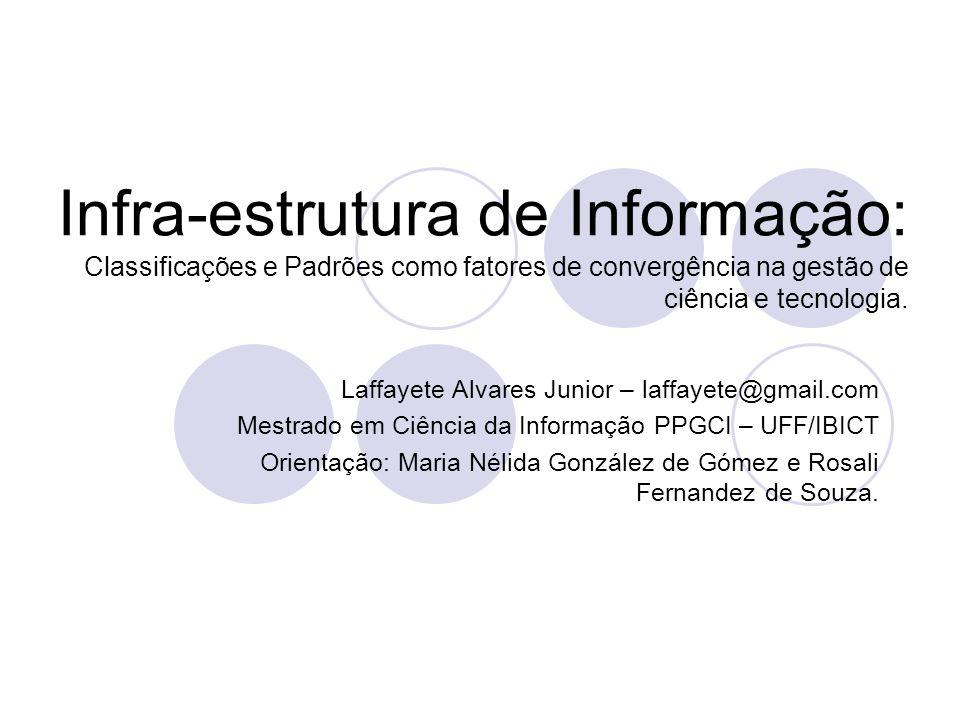 Infra-estrutura de Informação: Classificações e Padrões como fatores de convergência na gestão de ciência e tecnologia. Laffayete Alvares Junior – laf