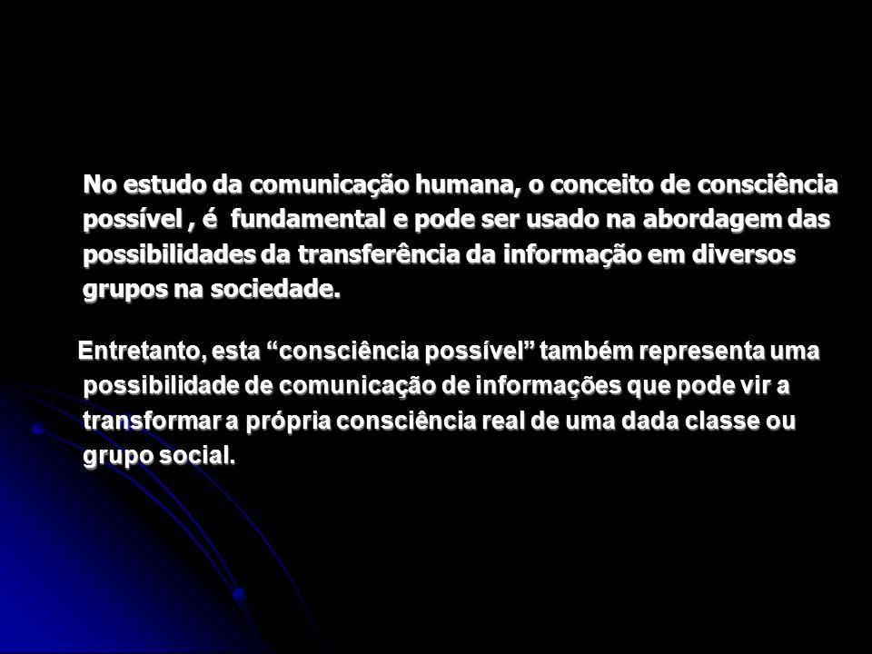 No estudo da comunicação humana, o conceito de consciência possível, é fundamental e pode ser usado na abordagem das possibilidades da transferência d