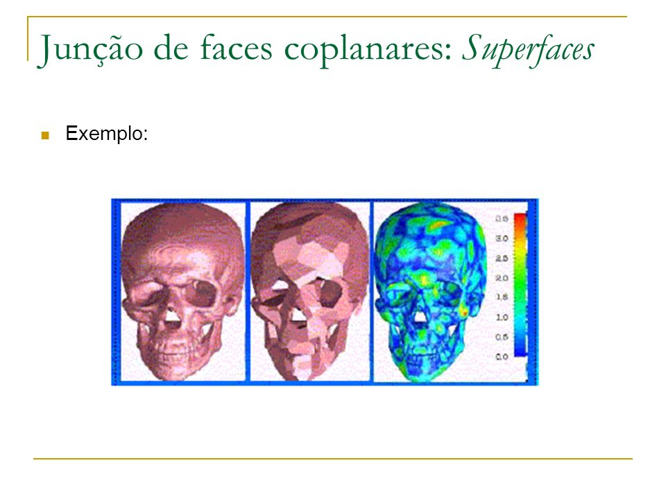 Junção de faces coplanares: Superfaces Exemplo: