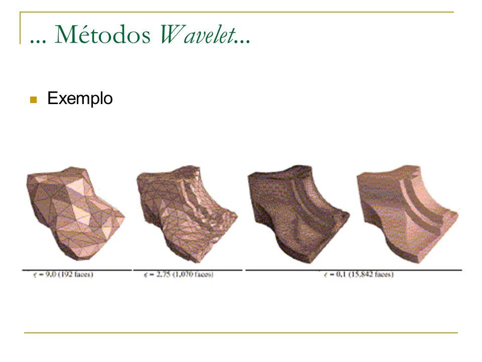 ... Métodos Wavelet... Exemplo