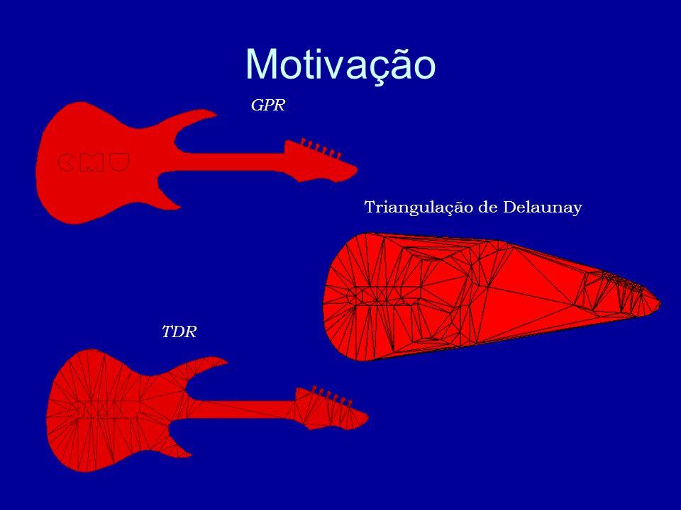 TDR Triangulação de Delaunay GPR