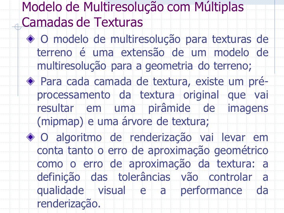 Modelo de Multiresolução com Múltiplas Camadas de Texturas O modelo de multiresolução para texturas de terreno é uma extensão de um modelo de multires