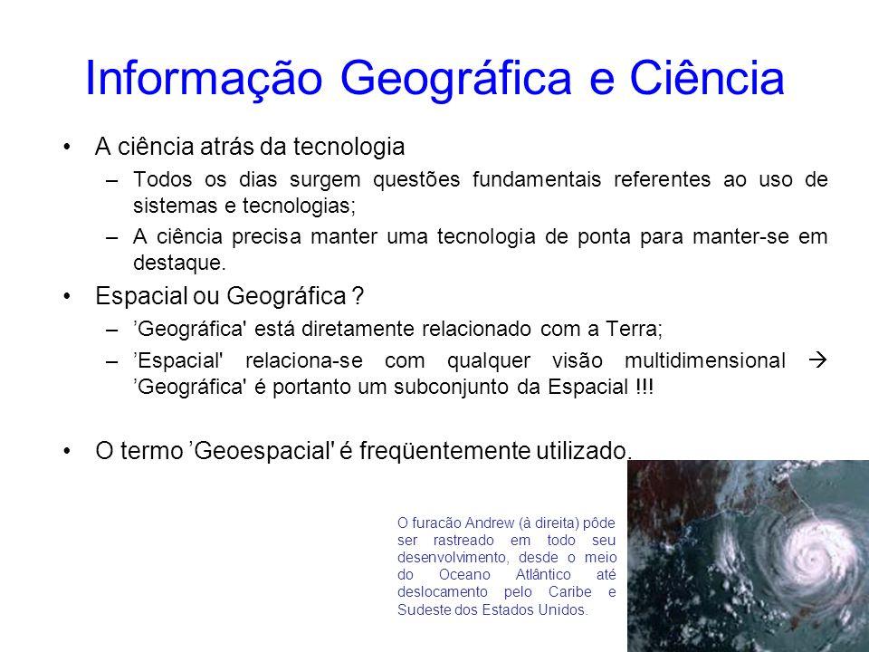 8 Fontes de Coleta - GIS É um sistema para introdução, armazenamento, manipulação e saída de informações geográficas; Um sistema completo de GIS deve