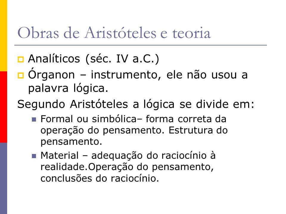 Princípios aristotélicos da lógica Princípio da identidade – se um enunciado é verdadeiro, essa é sua identidade.