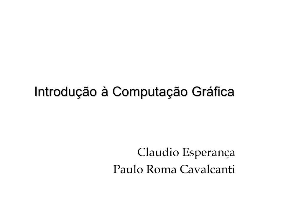 Estrutura do Curso Ênfase na parte prática Avaliação através de trabalhos de implementação C / C++ OpenGL c/ GLUT Grau (nota) baseado no êxito, na qualidade e na criatividade das soluções