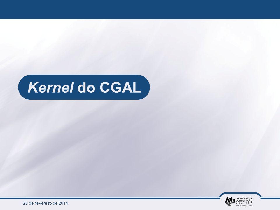25 de fevereiro de 2014 Kernel do CGAL