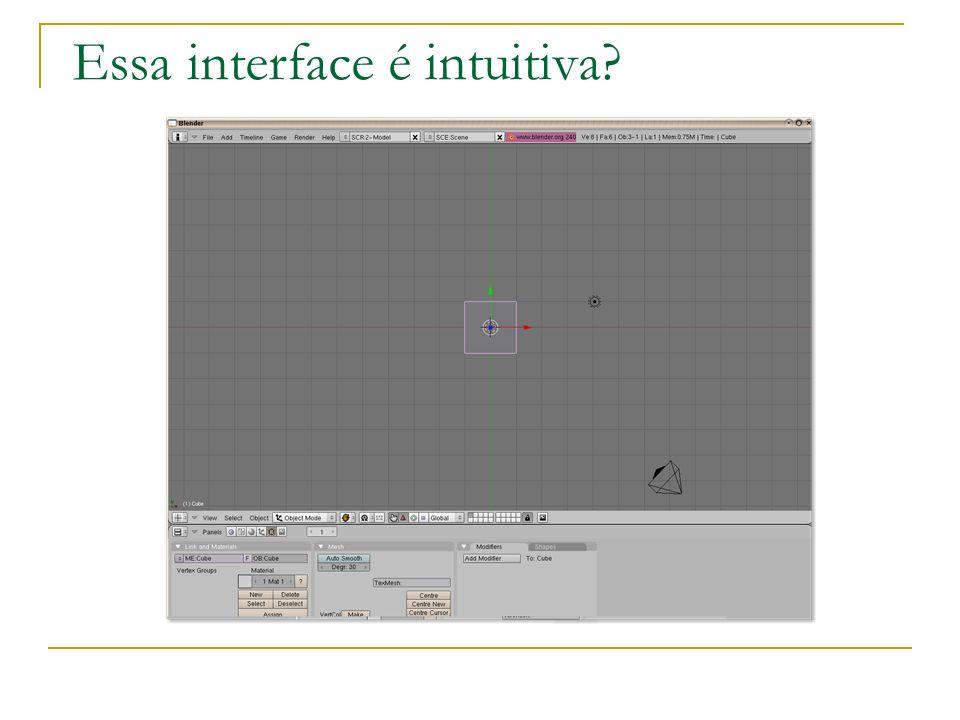 Essa interface é intuitiva?