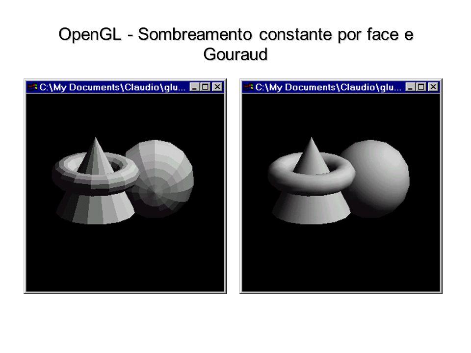 OpenGL - Sombreamento constante por face e Gouraud