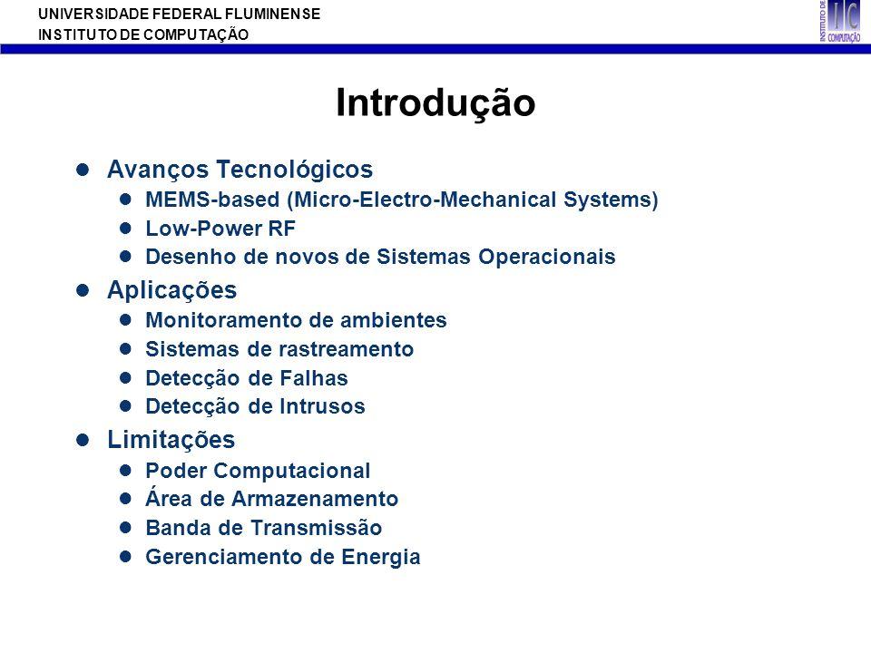 UNIVERSIDADE FEDERAL FLUMINENSE INSTITUTO DE COMPUTAÇÃO Introdução Avanços Tecnológicos MEMS-based (Micro-Electro-Mechanical Systems) Low-Power RF Des