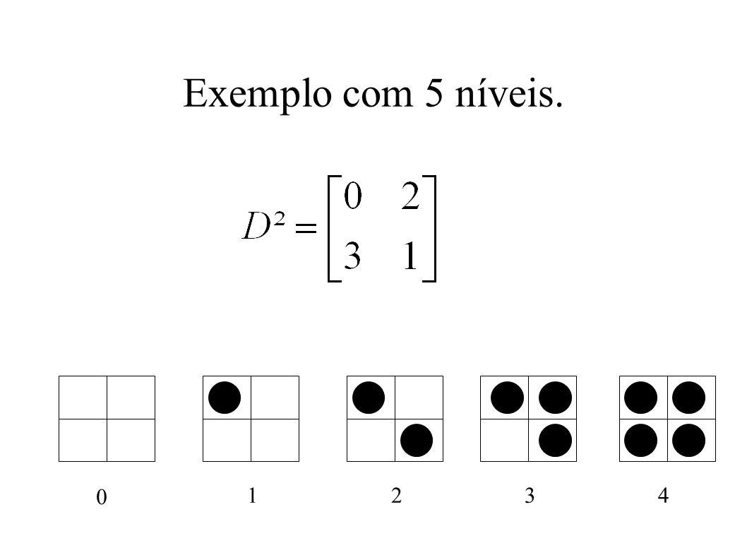 Exemplo com 5 níveis. 0 1234