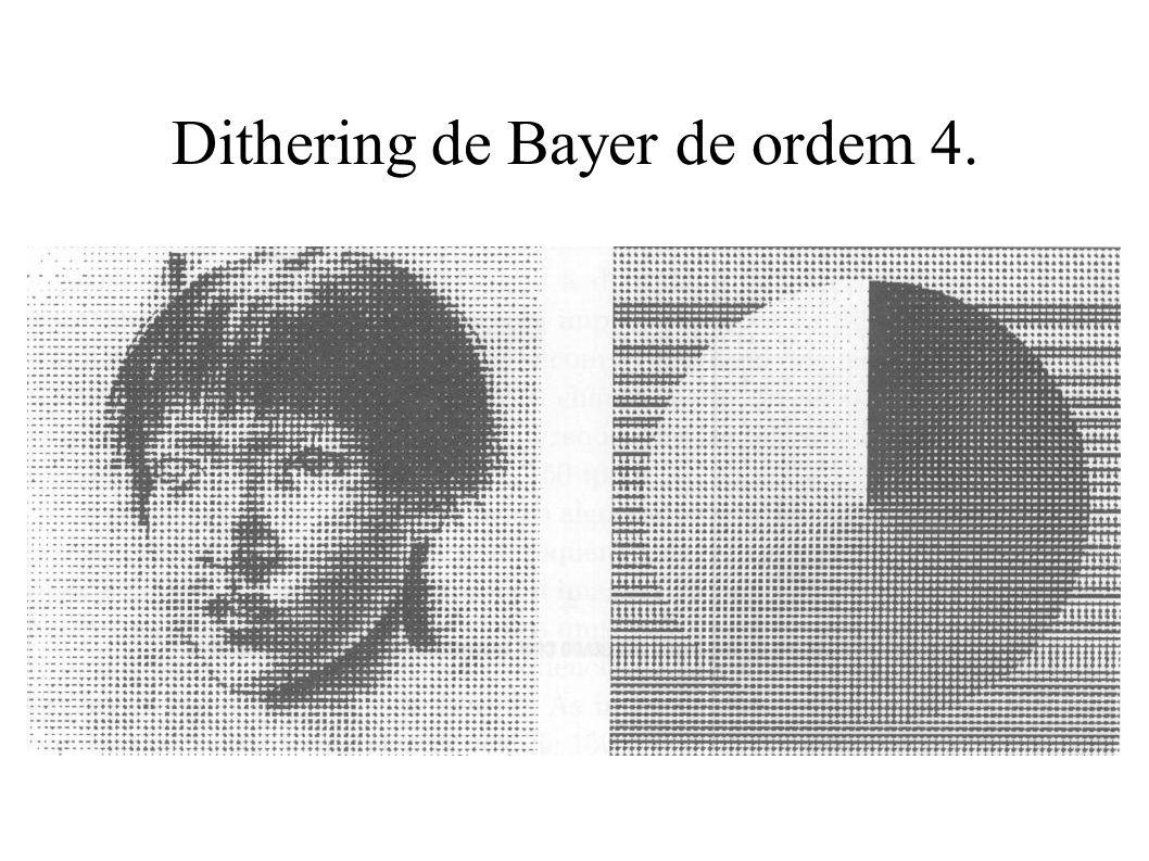 Dithering de Bayer de ordem 4.