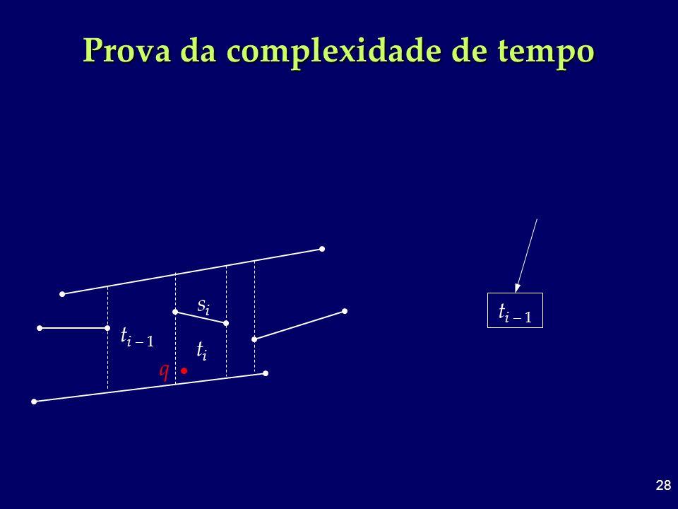 28 Prova da complexidade de tempo t i – 1 titi sisi q