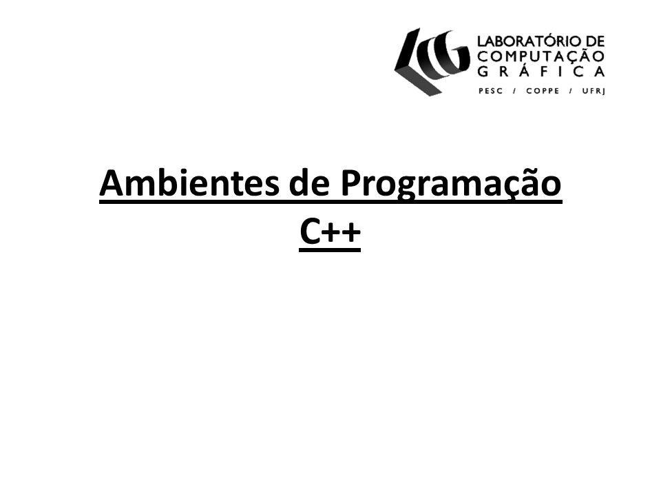 Tópicos Introdução Compiladores C++ Ambientes integrados para desenvolvimento Editores de código Escrevendo código Construção de projetos: Makefile Construção de projetos: SCons