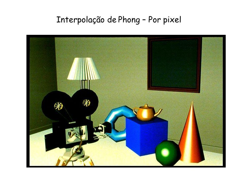 Interpolação de Phong – Por pixel