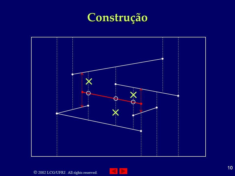2002 LCG/UFRJ. All rights reserved. 10 Construção