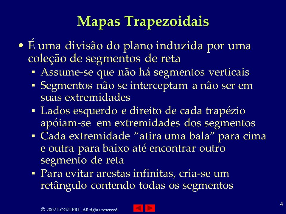2002 LCG/UFRJ. All rights reserved. 5 Mapas Trapezoidais