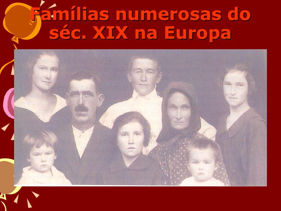 Famílias numerosas do séc. XIX na Europa