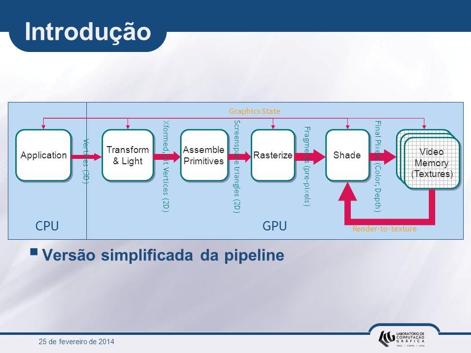25 de fevereiro de 2014 76 Estruturas de dados básicas na GPU Implementing Efficient Parallel Data Structures on GPUs Chapter 33, GPU Gems II Low-level details