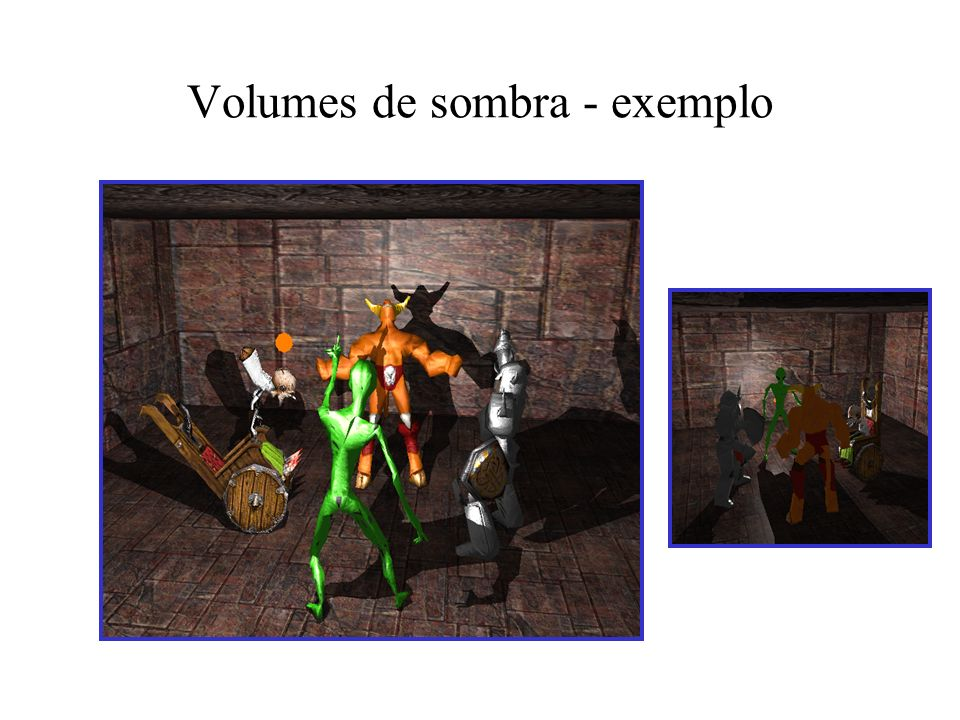 Volumes de sombra - exemplo