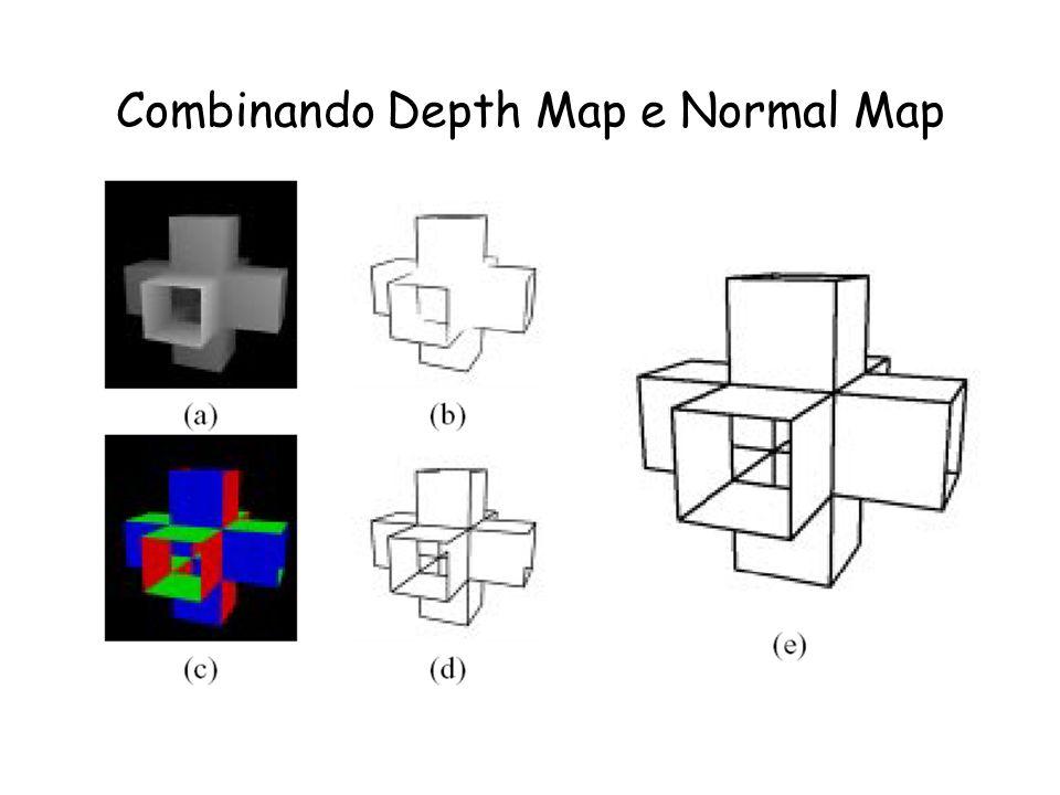 Normal Map Normal Map : Os valores RGB do ponto correspondem aos valores XYZ da normal naquele ponto. Como calcular o mapa de normais : –Colocar cor b