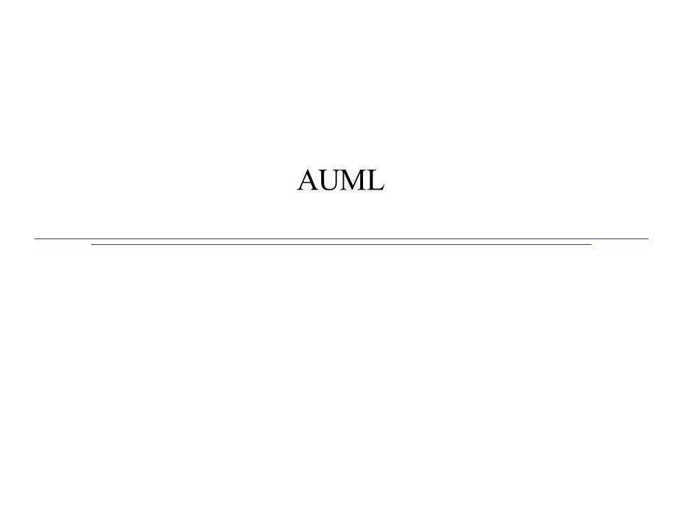 AUML – Agente UML Primeiro objetivo era especificar protocolos de interação entre agentes (AIP) 1o passo foi estender diagrama de seqüência de UML para modelar as interações entre agentes Em seguida, estenderam outros diagramas