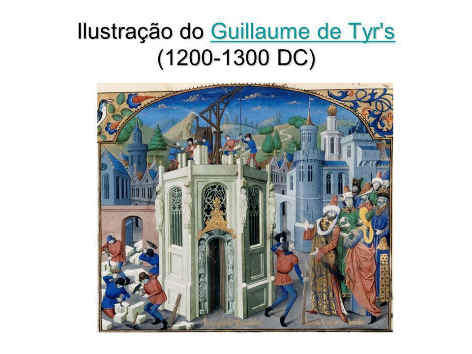 Ilustração do Guillaume de Tyr s (1200-1300 DC) Guillaume de Tyr sGuillaume de Tyr s