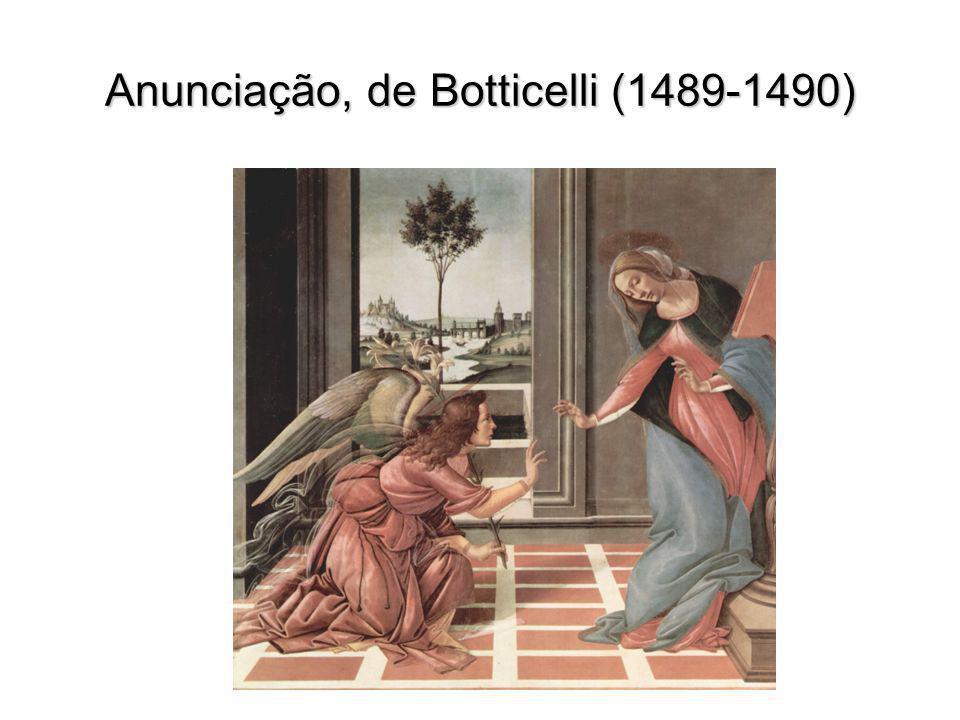 Anunciação, de Botticelli (1489-1490)