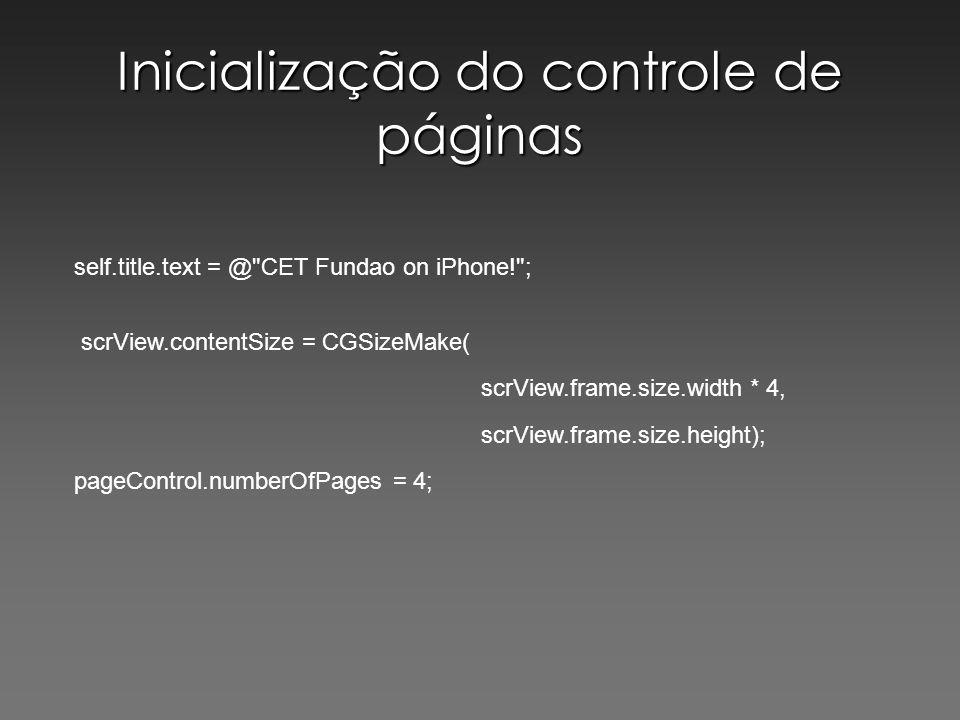 Inicialização do controle de páginas self.title.text = @