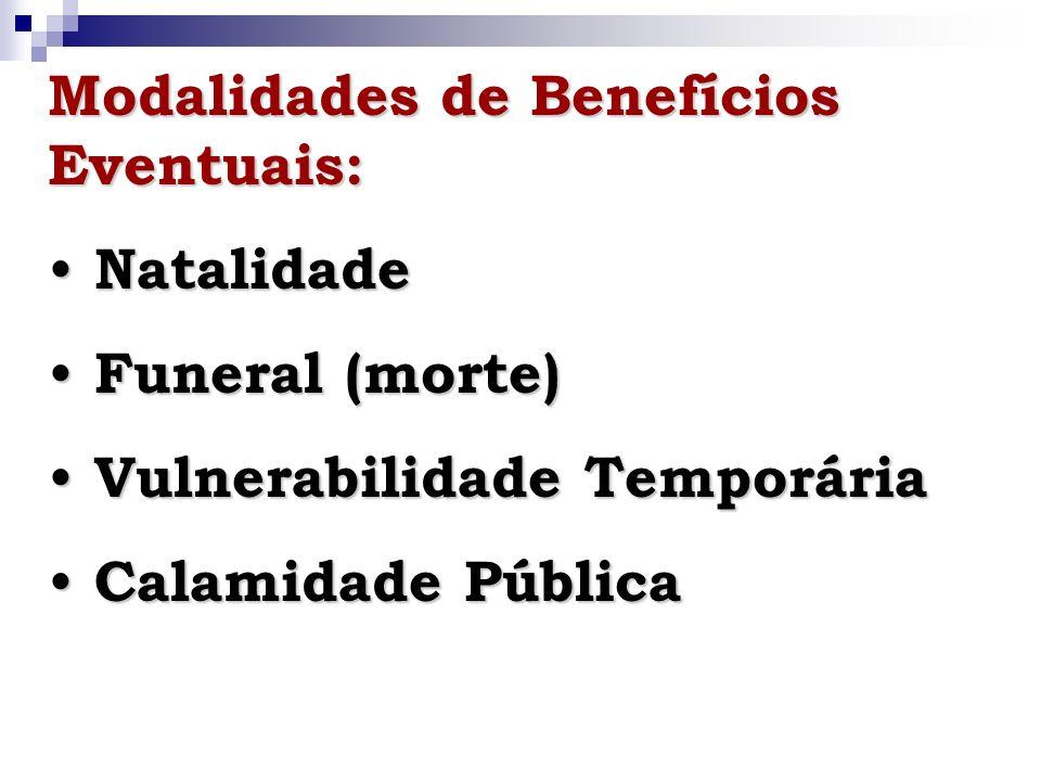Referências Bibliográficas: BOVOLENTA, G.A. Os benefícios eventuais e a gestão municipal.